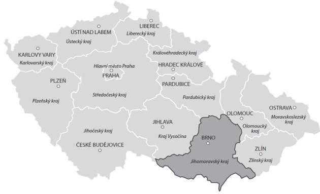 Cenová mapa pozemků – vývoj skutečných reálných cen v Jihomoravském kraji