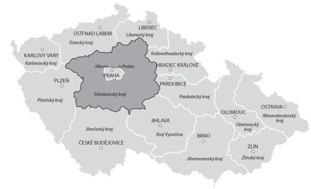 Cenová mapa pozemků skutečných reálných cen ve Středočeském kraji