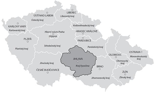 Cenová mapa pozemků – vývoj skutečných reálných cen v Kraji Vysočina