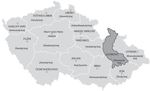 Cenová mapa pozemků – vývoj skutečných reálných cen v Olomouckém kraji